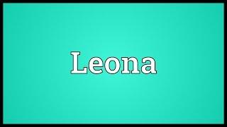 Leona Meaning
