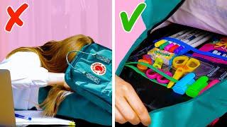 25 Awesome High School Organizing Tricks || School Crafts And Hacks