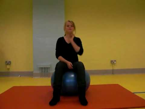 Screenshot of video: Core Stability activities using a large exercise ball