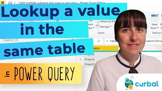 Lookup values from the same table in Power Query