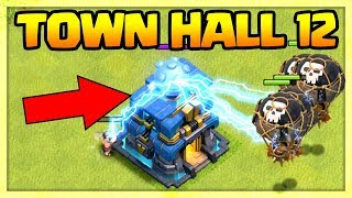 TOWN HALL 12 IS A WEAPON! Clash of Clans TH12 Giga Tesla GAMEPLAY - dooclip.me