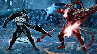 VENOM vs CARNAGE Battle Gameplay (Soul Calibur 6)