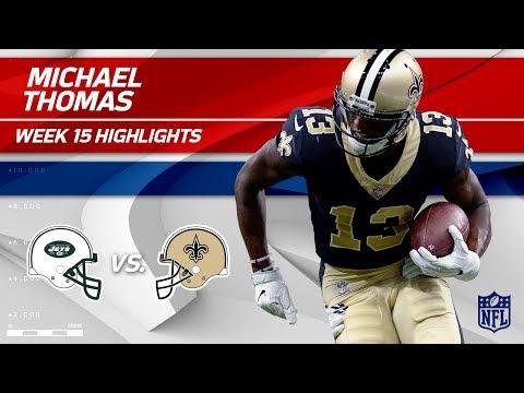 Michael Thomas Takes Charge w/ 9 Grabs & 1 TD vs. NY! | Jets vs. Saints | Wk 15 Player Highlights