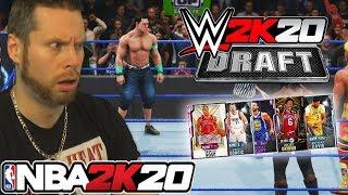 I used WWE 2K20 to draft a NBA 2K20 team
