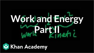 Work and Energy (part 2)