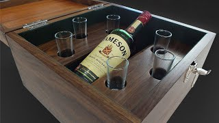 Building A Six Glass Whiskey Box - Download Plans - Woodworking