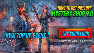 MYSTERY SHOP 9.0 IS BACK | HOW TO GET 90% DISCOUNT ON FREE FIRE NEW MYSTERY SHOP 9.0 | NEW TOP EVENT