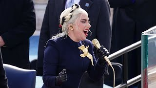 video: Watch: Lady Gaga sings US National Anthem at Joe Biden's inauguration