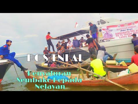 VIDEO: Bantu Perekonomian Masyarakat, Posal Selatpanjang Salurkan Puluhan Paket Sembako kepada Nelayan