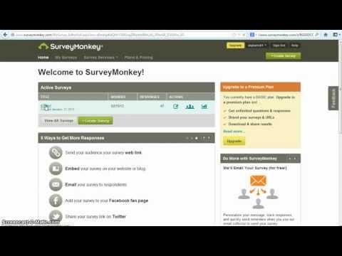 شرح حول صناعة الاستعلامات والاستبيانات من خلال surveymonkey