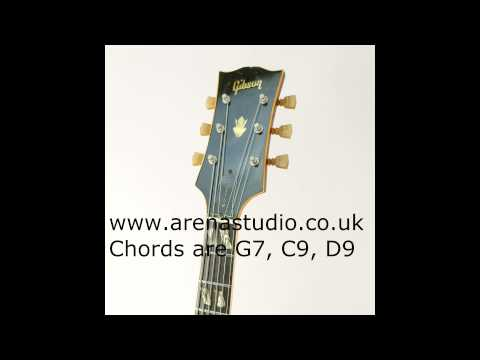 BLUES GUITAR BACKING TRACK IN G. 12 bar blues guitar jam track in G. Chords are G7, C9 and D9.