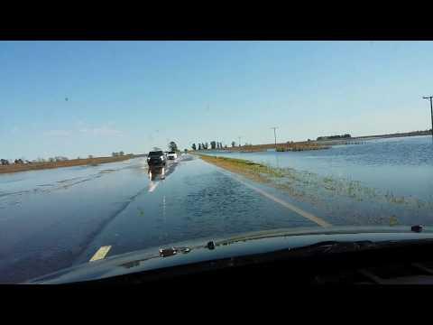 Ruta 188 bajo el agua