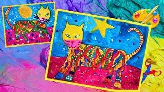Вот какие котики! Рисуют дети. Как нарисовать кота. Уроки рисования . How to drow a cat