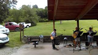 Darin Clegg playing The National Anthem, June 2017(Live at Bulltown Campground)
