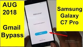 Samsung Galaxy C7 Pro Frp And Gmail Reset AUG 2018 Trick