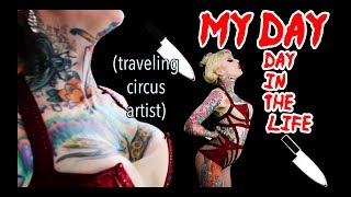 MY DAY! | Day In The Life Of Traveling Circus Artis | First Day In Ibiza.