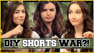 DIY Jean Shorts?! | DIY Wars w/ Rebecca Black , Cassie Diamond & Clarissa May