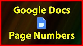 How to Number pages in Google Docs - Tutorial (2019)