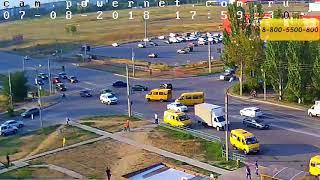 ДТП (авария г. Волжский) ул. Карбышева ул. Оломоуцкая 07-08-2018 17-59