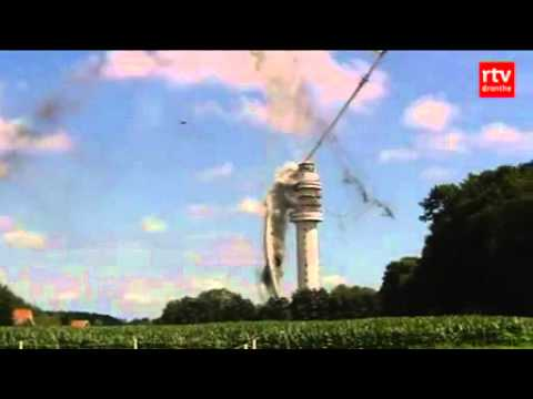 Giant Flaming Dutch Television Phallus Collapses