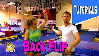 Trampoline Gymnastics Tutorial: Proper Way To Teach A Backflip