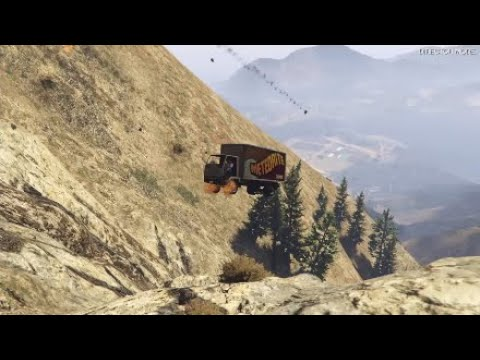 Grand Theft Auto V - Driving More Crap Cars Off Mt.Chiliad (GTA 5)