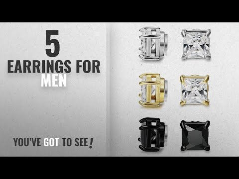 Top 10 Earrings For Men [2018]: BESTEEL 3Pairs Stainless Steel Earrings Magnetic for Men Women Stud
