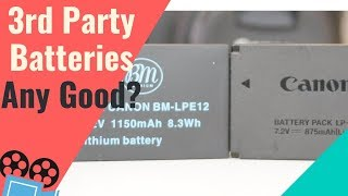 Canon LP-E12 Battery vs 3rd Party Battery for Canon M50
