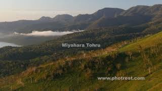 秋の屈斜路湖の動画素材・4K写真素材