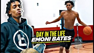 """Emoni Bates: """"Day In The Life"""" w/ The #1 Player In America! The Grind NEVER STOPS"""
