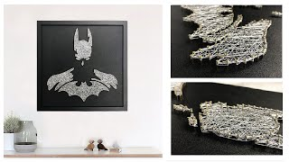 [String Art] Making Batman Portrait With Nails And Thread