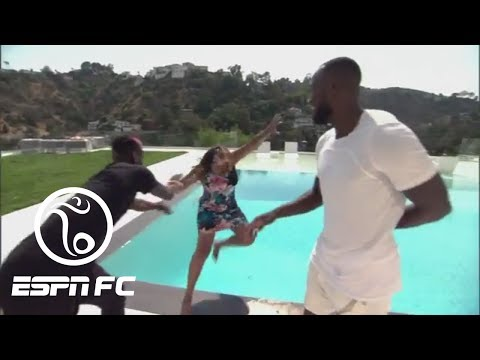 Paul Pogba Pushes ESPN FC Reporter Alexis Nunes Into Pool | ESPN FC