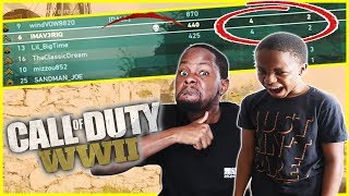 CAN I DO BETTER THAN MY ANNOYING CRAP TALKING BROTHER!! - Call of Duty World War 2 Beta Gameplay