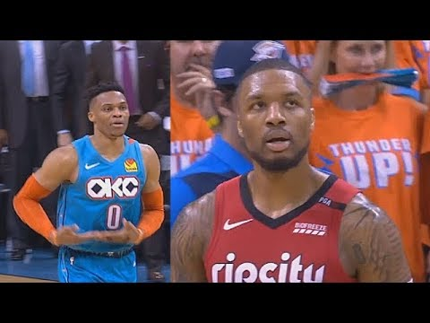 Russell Westbrook Disrespects Damian Lillard Twice With Rock A Baby Celebration Then Trash Talks!