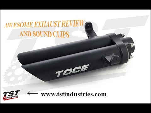 Toce T Slash Slip on Exhaust Sound Clip - смотреть онлайн на