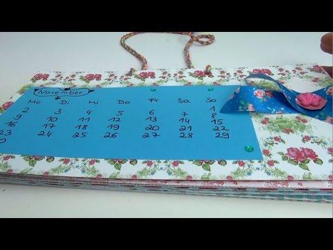 DIY Kalender 2015 | Kalender ganz einfach selber machen + VERLOSUNG |GESCHLOSSEN!! | deutsch
