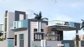 HOW LOOK SKY BLUE COLOR FOR HOME EXTERIOR !! Color Combination For House