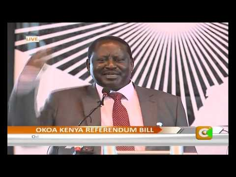 Let Governors Oversee Security, Odinga Tells Gov't