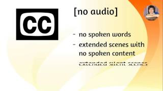 Closed Captions - Use Brackets to Include non-spoken words