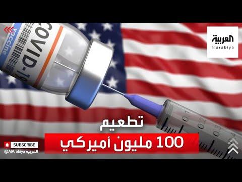 العرب اليوم - شاهد : الرئيس جو بايدن يعلن تطعيم 100 مليون أميركي ضد كورونا