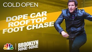 Cold Open: Jake's Car Rooftop Foot Chase - Brooklyn Nine-Nine