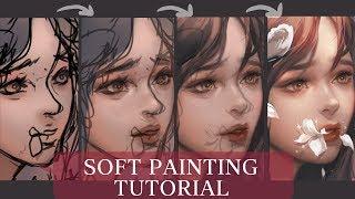 [Medibang] Soft Painting + Brush Settings - TUTORIAL + SPEEDPAINT