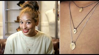 How To Layer Delicate Necklaces Featuring The HM 18k Shield Necklace