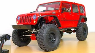 AXIAL JEEP WRANGLER SCX10 II RC CRAWLER SCALER 4WD RUBICON RTR LED LIGHTS UNBOXING!!