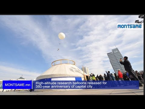 High-altitude research balloons released for 380-year anniversary of capital city