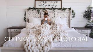 How To Make A Chunky Blanket | OKEVAAA