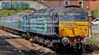 preview picture of video 'DRS 47501 & 47853 GA Mk2 Short Set 21/07/2014'