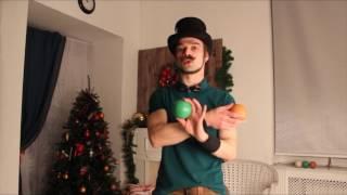 Смотреть онлайн Как научиться жонглировать шары в домашних условиях