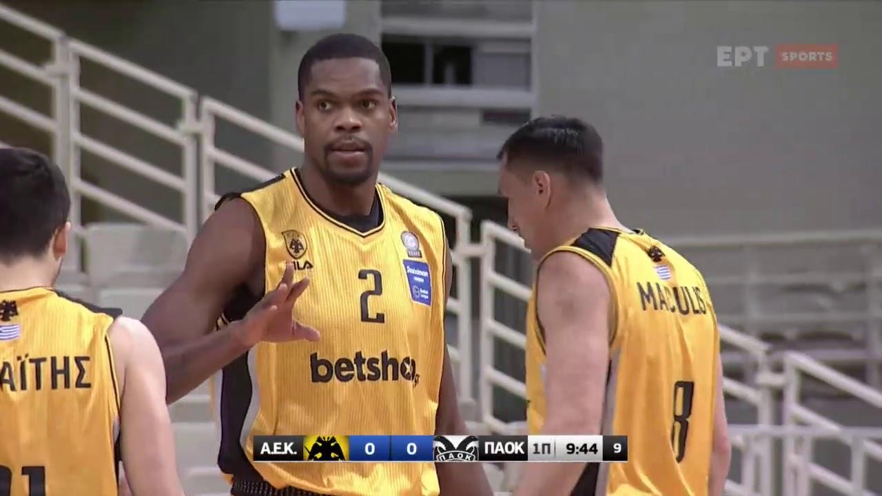 Basket League 2020 2021: ΑΕΚ – ΠΑΟΚ | 27/01/2021 | ΕΡΤ