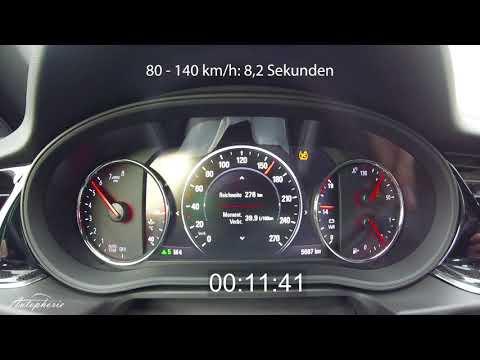 2017 Opel Insignia 2.0 Turbo 4x4 (260 PS): Beschleunigung 0 - 200 km/h - Autophorie